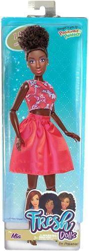 Boneca Tipo Barbie Negra Fresh Dolls Lynette Articulada Lind