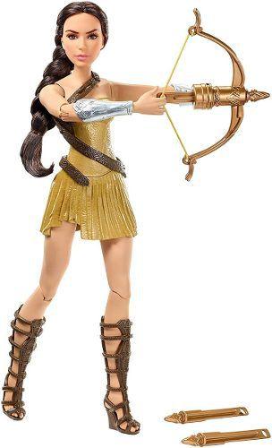 Boneca Barbie Mulher Maravilha Com Arco Flechas Top