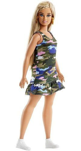 Boneca Barbie Fashionista Curvy 94 Loira Gordinha Linda Top