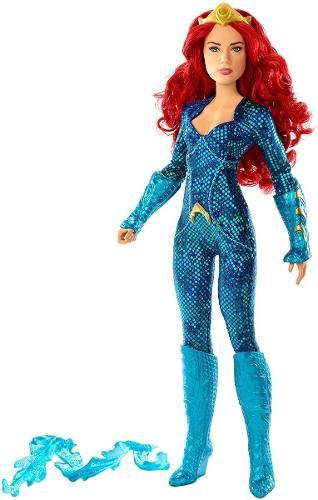 Boneca Barbie Collector Mera Aquaman Liga Da Justiça Mattel
