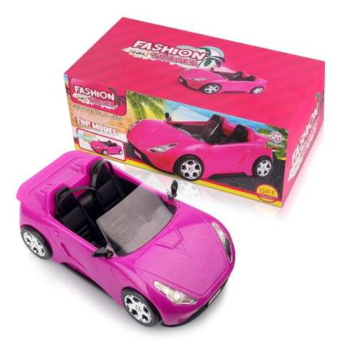 Carro para a Barbie Conversível Rosa Alta Qualidade Top