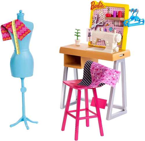 Ateliê De Costura Da Barbie Estúdio Fashion Playset