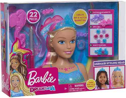Cabeça Da Boneca Barbie Dreamtopia Sereia Pentear Cabelo Top