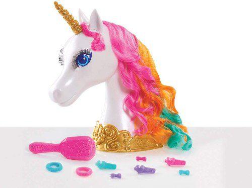 Cabeça Barbie Dreamtopia Unicórnio Pentear Cabelo Top