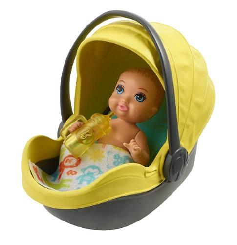 Carrinho Stroller E Bebê Barbie Skipper Babysitters Loiro