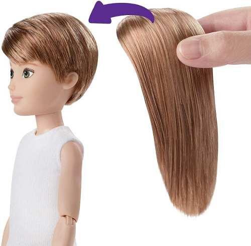 Novo Boneco Mattel Customizável Sem Gênero Cabelo Cobre Liso