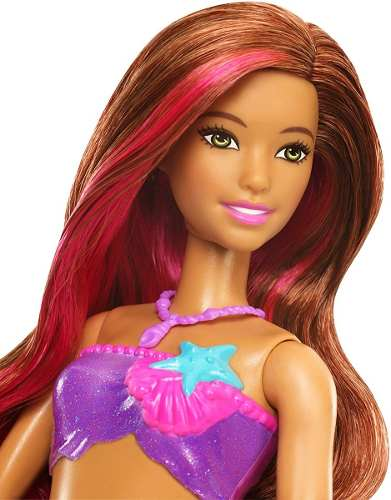 Boneca Barbie Dolphin Magic Transformando Sereia C/ Golfinho