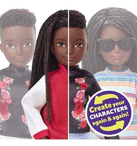 Novo Boneco Mattel Customizável Sem Gênero Negro Trançado