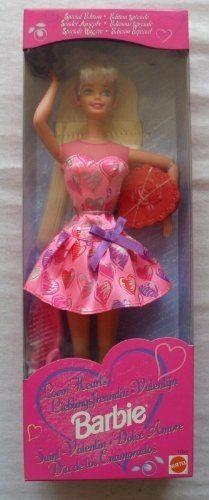 Boneca Barbie 1997 Antiga Valentine Negra Rara Vestido Rosa