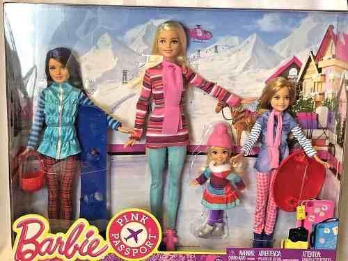 Bonecas Barbie Férias De Inverno Brincando Na Neve Snowboard