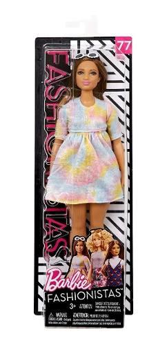 Boneca Barbie Fashionista 77 Curvy Gordinha Tie Dye Top