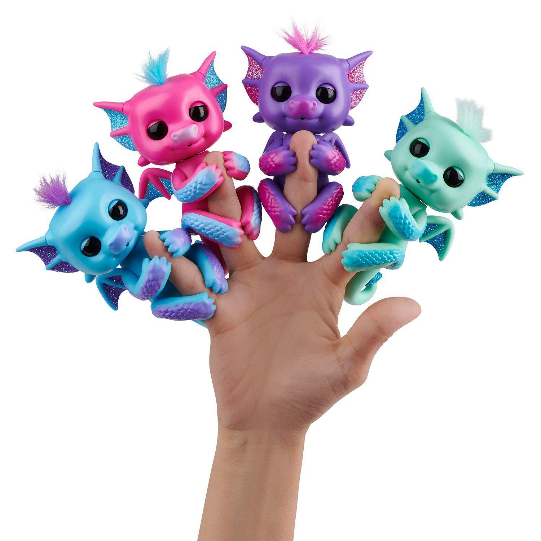 Agarradinho Fingerlings Dragão Kaylin Brilhante Roxo