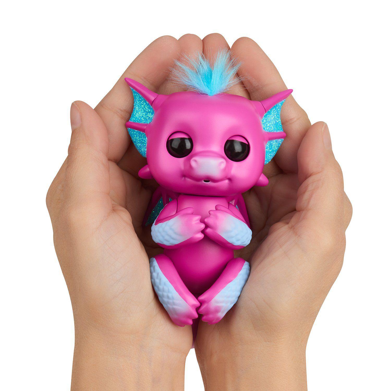 Agarradinho Fingerlings Dragão Sandy Brilhante Rosa
