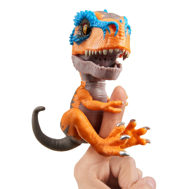 Agarradinho Fingerlings T-rex  Zero Laranja | Pet Interativo