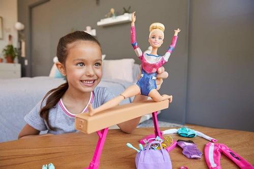 Boneca Barbie Conjunto De Ginástica Giratória Com Trave 2020