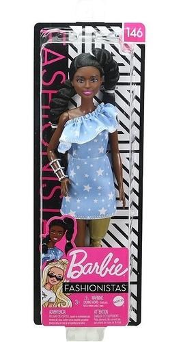 Boneca Barbie Fashionista 146 Perna Mecânica Prótese Dourada