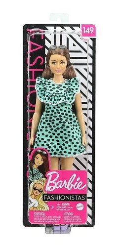 Boneca Barbie Fashionista 149 Cabelo Longo Vestido Top