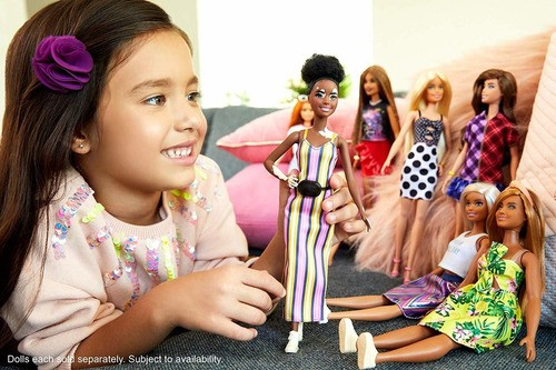 Boneca Barbie Fashionistas Doll 135 Com Vitiligo Morena 2020