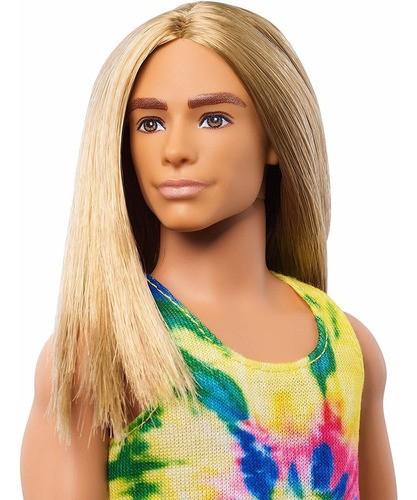 Boneca Barbie Ken Fashionista 138 Cabelo Loiro Longo 2020
