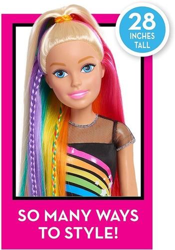 Boneca Barbie Loira Grande Arco-iris 71cm Importada Mattel