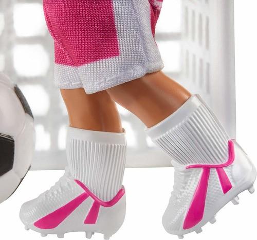 Boneca Barbie Profissões Negra Treinadora De Futebol 2020