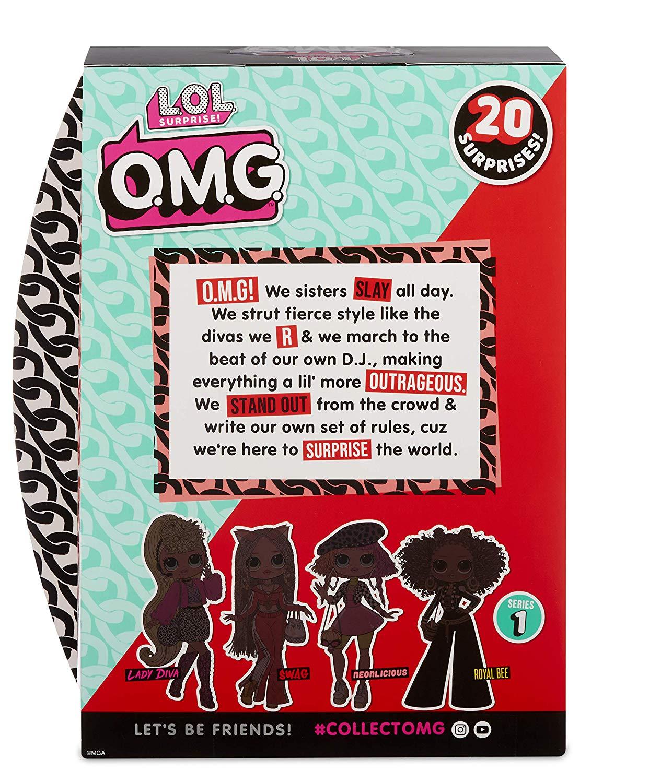 Boneca Lol Surprise Grande Omg Swag Fashion 20 Surpresas Nova