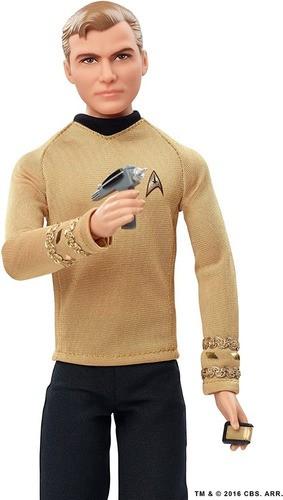 Boneco Barbie Star Trek Kirk Edição 50 Anos Articulado Top