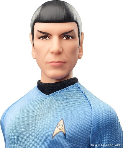 Boneco Barbie Star Trek Mr. Spock Edição 50 Anos Articulado