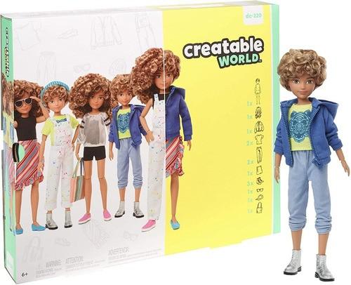Boneco Mattel Creatable World Cabelo Loiro Encaracolado