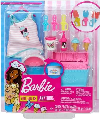 Pacote Acessórios Barbie Cozinhar E Assar Tema Sorvete Top