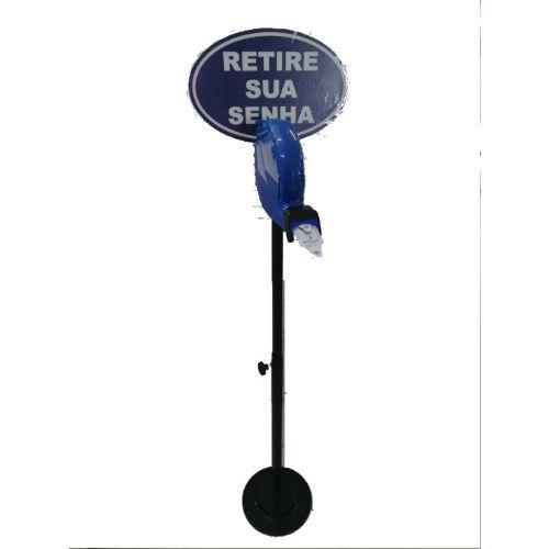 Dispensador de Senha - Bico de pato + placa indicativa + Pedestal + Etiqueta