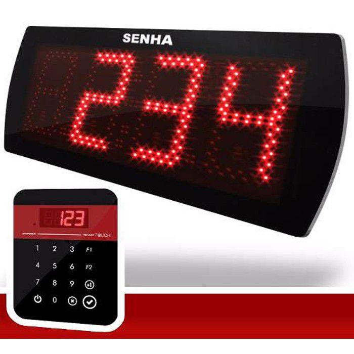 Painel de senha Touch 3 Dígitos sequencial e aleatório