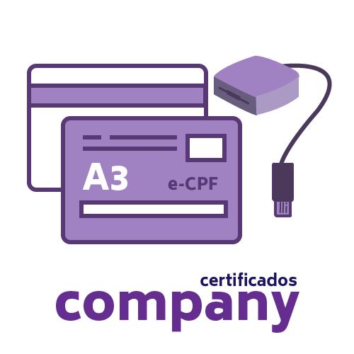 Certificado Digital PF A3 + Cartão + Leitora