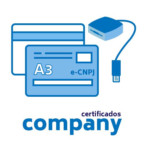 Certificado Digital PJ A3 + Cartão + Leitora
