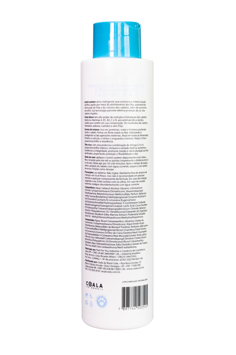 Máscara de Tratamento e Realinhamento Lumini Hair (1L)
