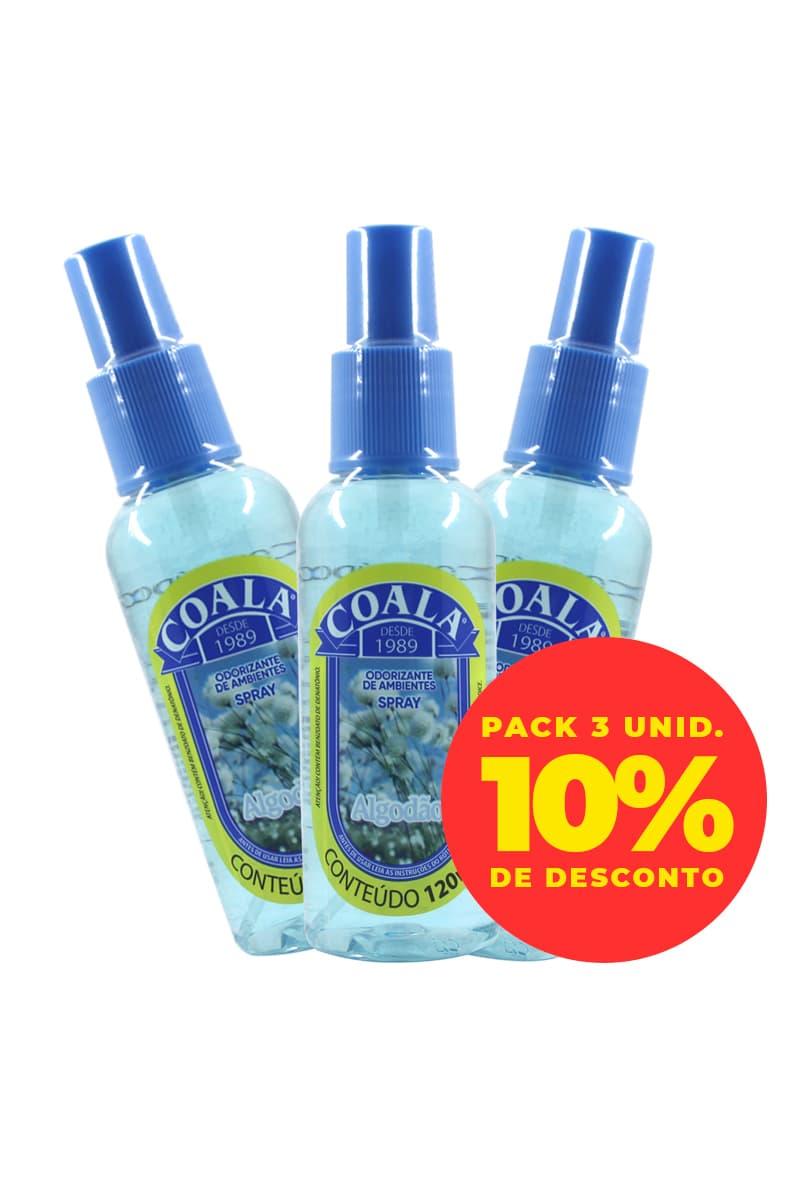 Pack Odorizante Spray Algodão 120ML