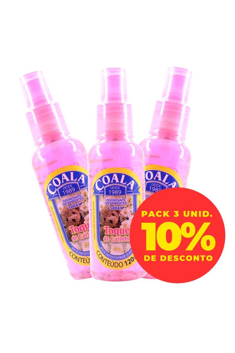 Pack Odorizante Spray Toque de Carinho 120ML