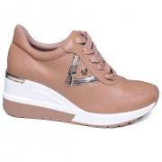 Tênis Feminino Sneaker Anabela Plataforma Via Marte 20-1265