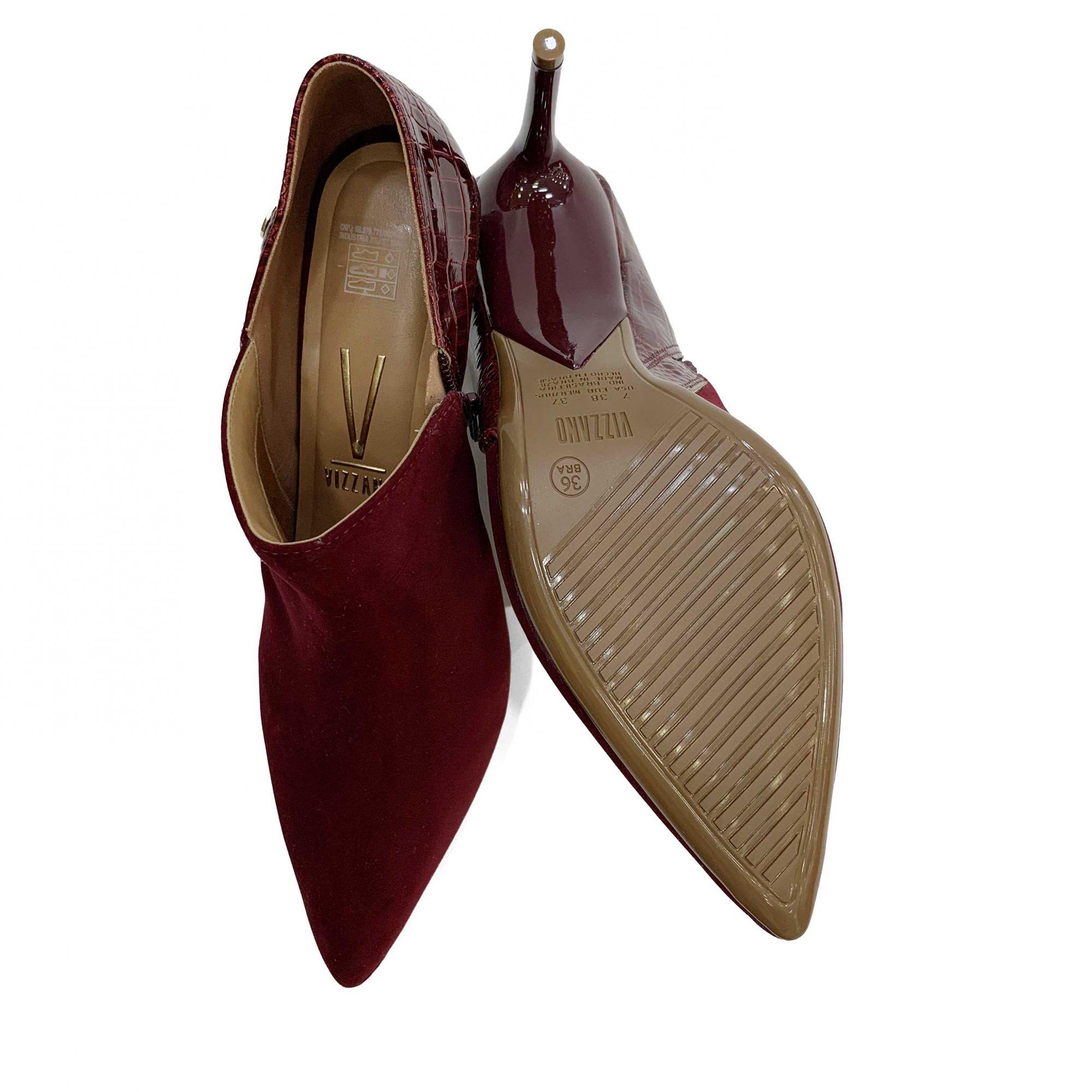 Bota Ankle Boot Feminino Vizzano 1344.101 Bico Fino