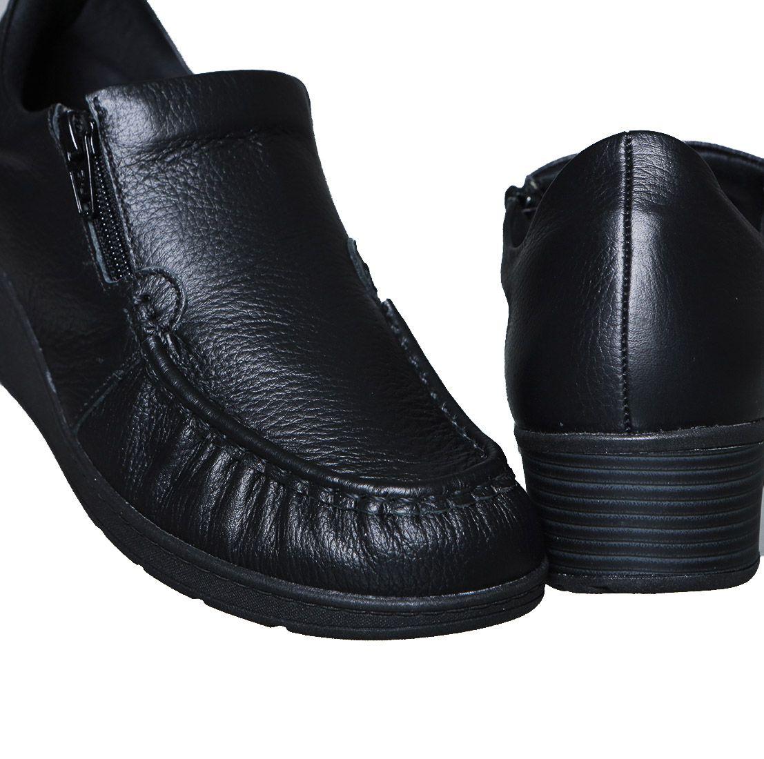 Sapato Anabela Feminino Usaflex AA0201 Couro