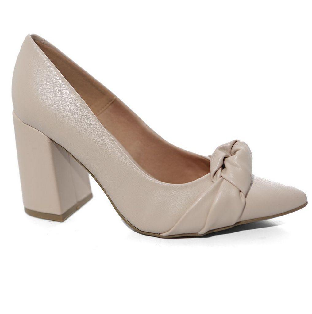 Sapato Off Line 5206.20850 Scarpin Salto Grosso
