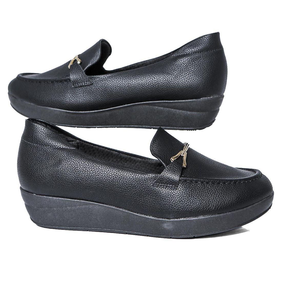 Sapato Piccadilly Anabela Amortecedor Esporão 214029