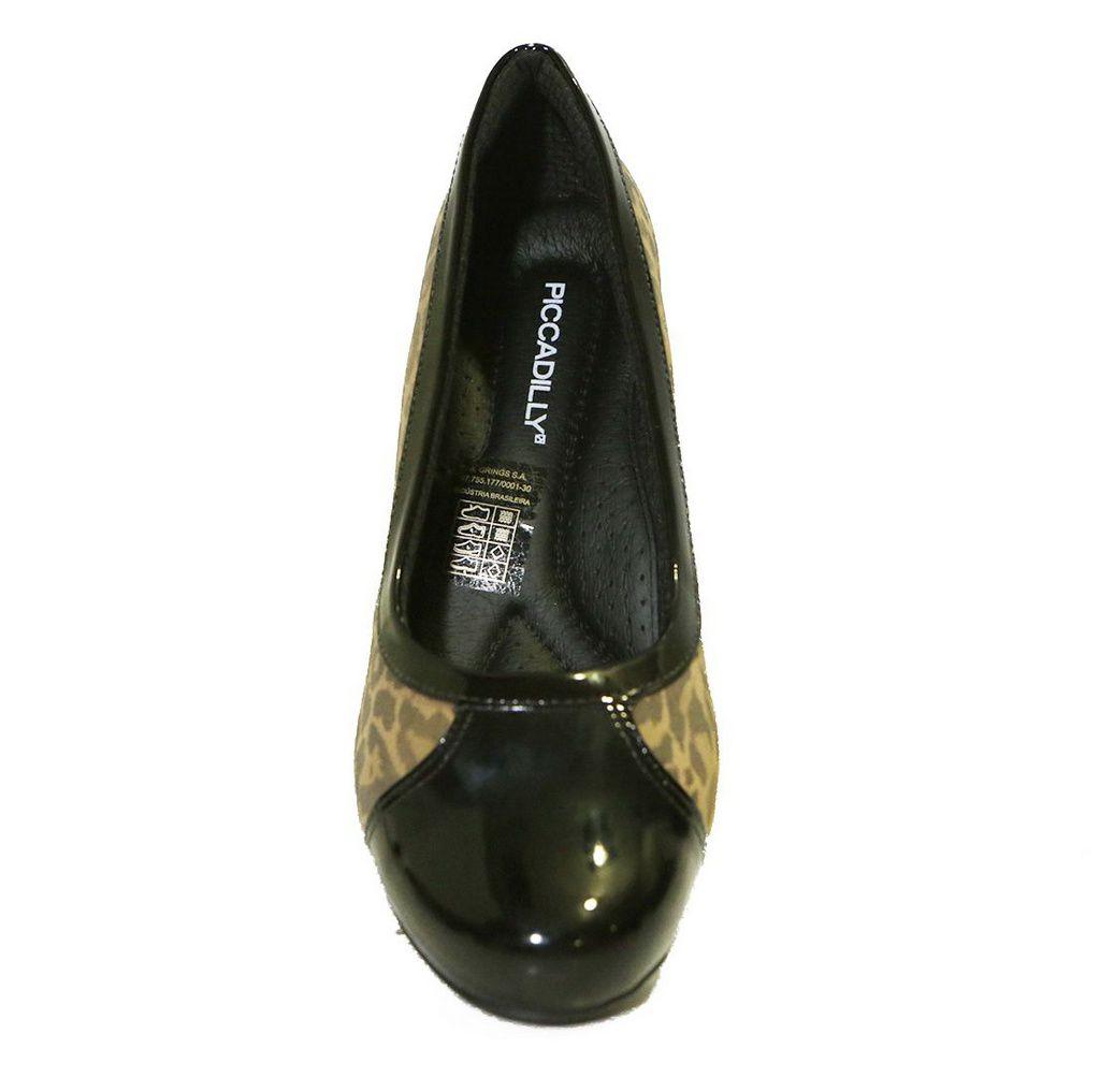Sapato Salto Grosso 111063 Scarpin Piccadilly