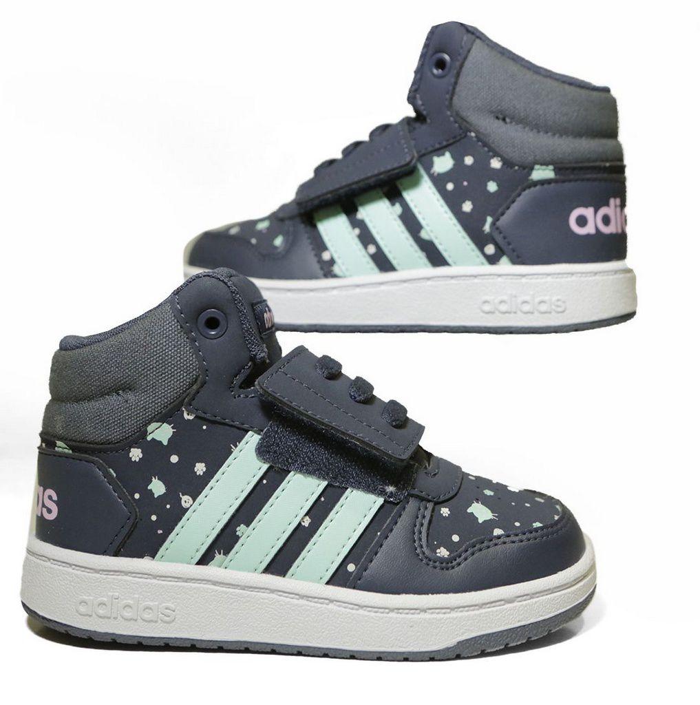 Tênis Adidas Infantil  Hoops Mid 2.0 B75953