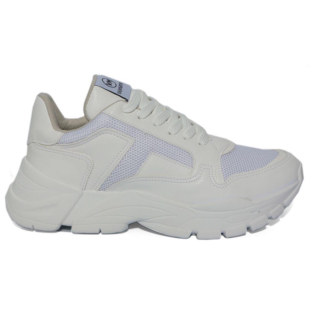 Tênis Feminino Chunky Sneaker Via Marte 20-2349 Branco