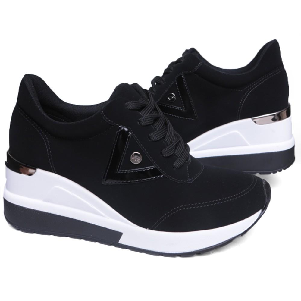 Tênis Feminino Sneaker Anabela Plataforma Via Marte 20-1205