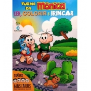 TURMA DA MONICA LER, COLORIR E BRINCAR COM 4 MASCARAS