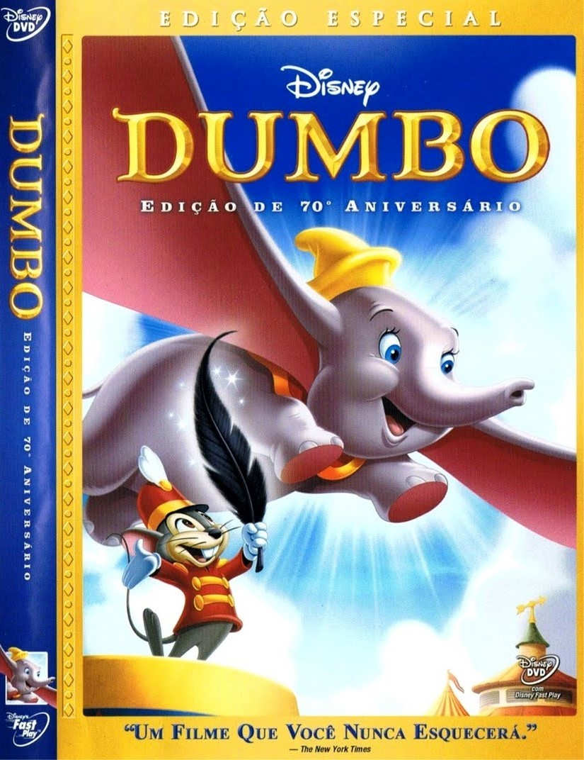 DUMBO EDIÇÃO 70º ANIVERSARIO DVD