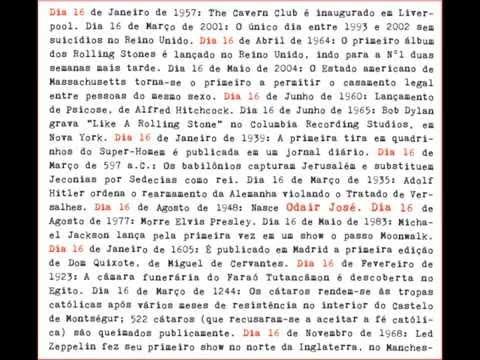 ODAIR JOSE DIA 16 CD