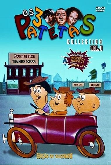 OS 3 PATETAS DESENHO VOL. 1  EDIÇAO DE COLECIONADOR  DVD